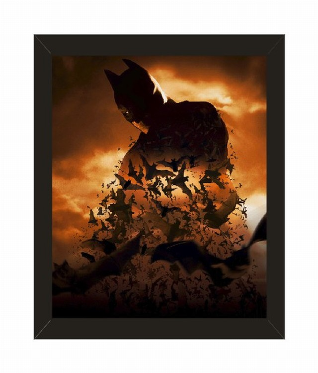 home decor batman series movie poster with picture frame 10x8 inches black framed wall art 9006