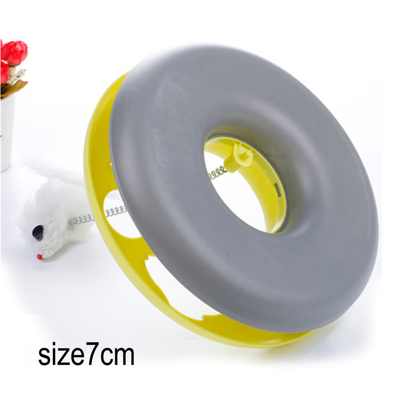 Pet Cat Toys Single - Layer Kettle Spring Mice Crazy Amusement Disk
