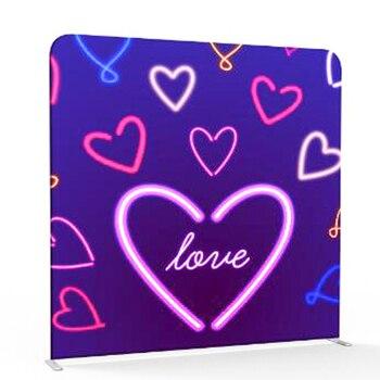 Gran venta amor impresión foto cabina almohada fondo con marco de aluminio soporte para fotografía fiesta boda