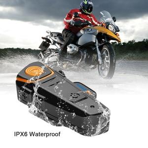 Image 2 - Fodsports BT S2 Pro Moto rcycle Mũ bảo hiểm tai nghe liên lạc nội bộ Moto bluetooth không dây chống nước interphone bằng FM mềm Micro