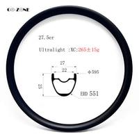Go zone 265g ultralight 650B MTB wheel XC 27x25mm tubeless 27.5er mountain bike carbon wheel rim UD matte 24H 28H 32H 36H