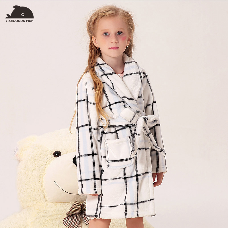 children sleepwear girl Pajamas baby pajamas one piece nightwear kid girl bathrobe kids girls nightgown 2018 autumn winter sexy spandex one piece underwear bathrobe nightwear w t back waist belt for women black