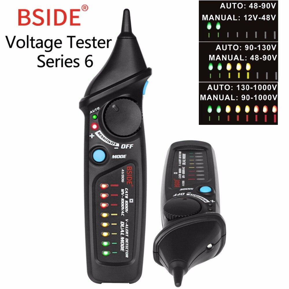 Nicht-Kontaktieren Spannung Detektor BSIDE AVD06 AC Spannung Test Stift Tester LED Licht Spannung Anzeige 12-1000 v einstellbare empfindlichkeit