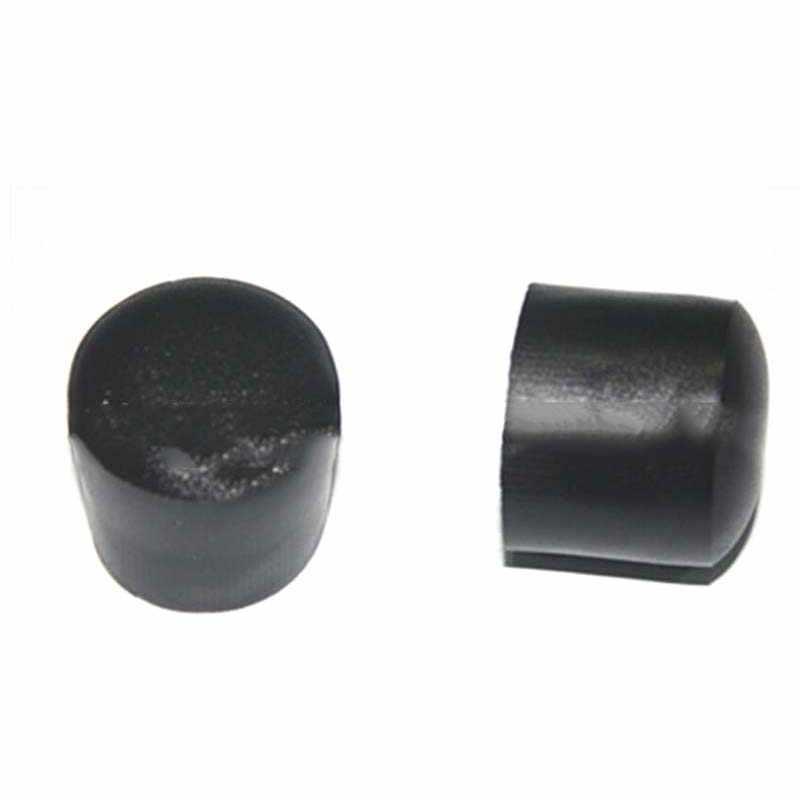 4 Uds 22mm patas de muebles de goma negro Silica plástico goma protectores de suelo mesa de muebles pierna calcetines tapas