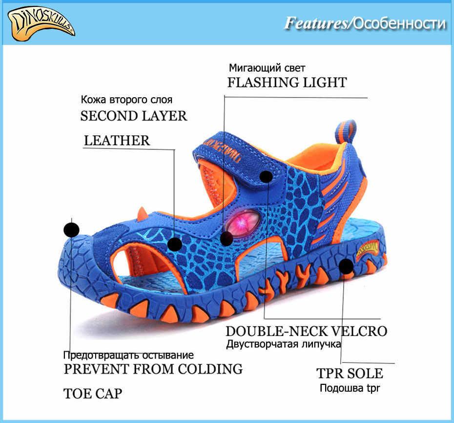 c71849c8 ... Zapatillas de deporte luminosas de dibujos animados de moda para niños sandalias  brillantes zapatos de playa