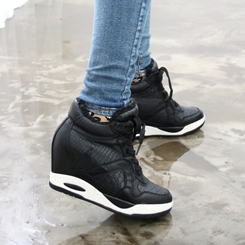Black Platform Sneakers For Women