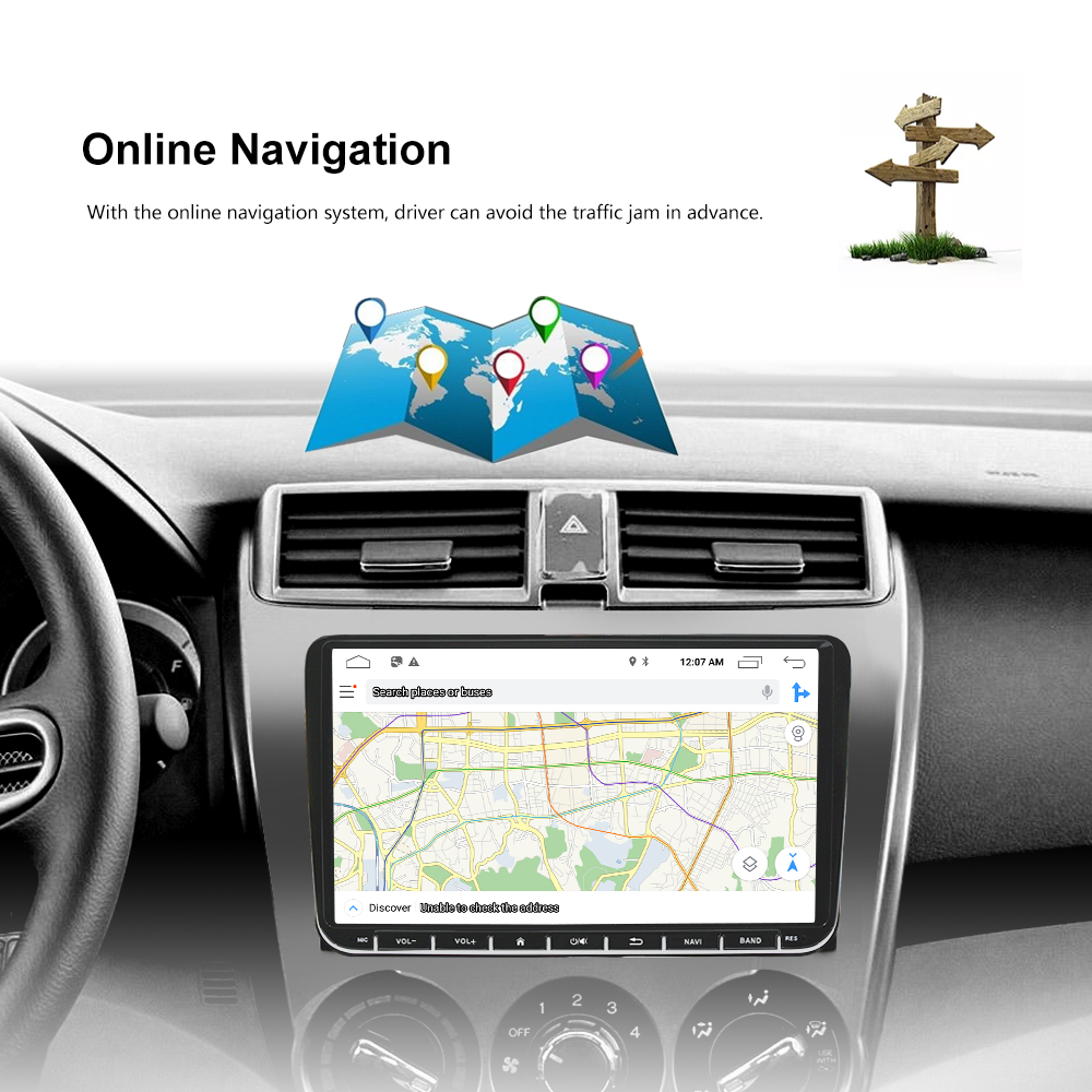 "Image 4 - Podofo 9"" Android 6.0 Car GPS Navigation Multimedia Player 2 din Radio for VW Passat Golf MK5 MK6 Jetta T5 EOS POLO Touran Seat-in Car Multimedia Player from Automobiles & Motorcycles"