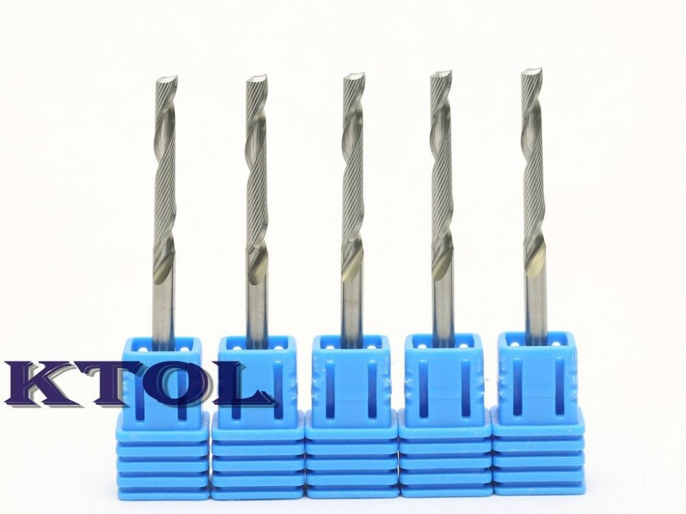 10pc Double Flute Straight Slot Endmill Milling Cutter CNC Router Bit 3.175×25mm
