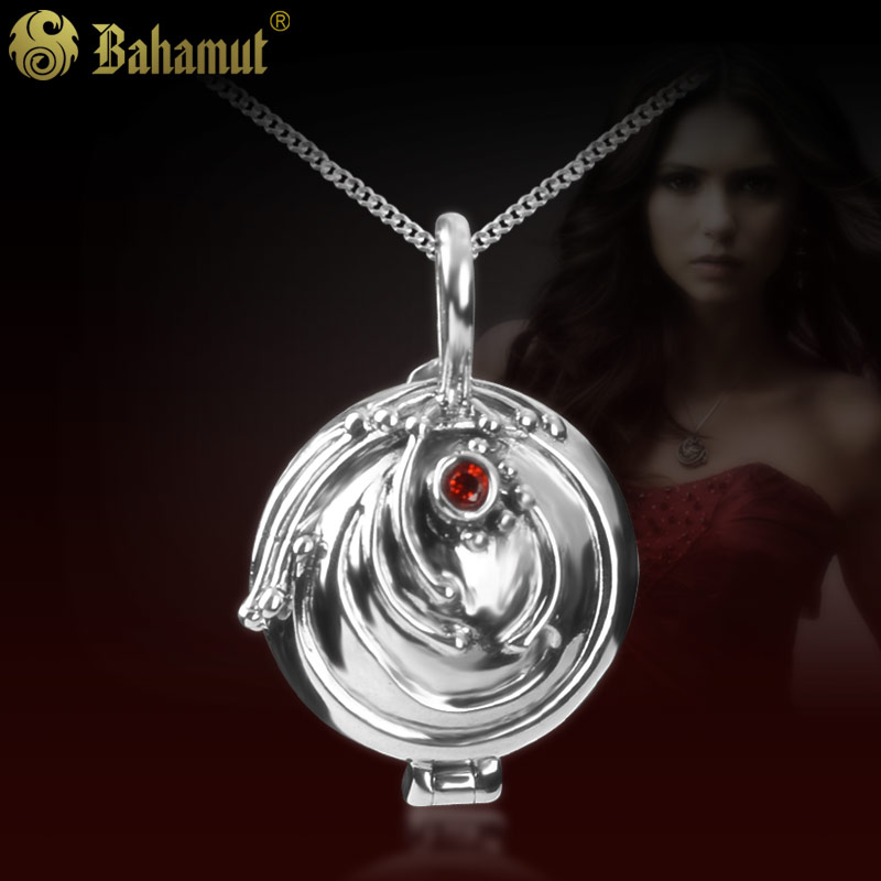 цена 925 Silver Jewelry Retro Vampire Diaries Verbena Female Pendant Necklace for Girlfriend Girl Birthday Gift онлайн в 2017 году