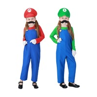 Children Funy Cosplay Costume Super Mario Fancy Dress Up Party Costume Cute Kids Costume