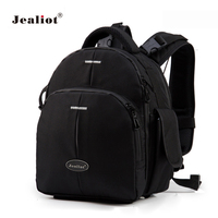 Jealiot DSLR Backpack Camera Bag foto laptop SLR Video Photo Bags digital lens case for Nikon Canon d3200 Waterproof shockproof