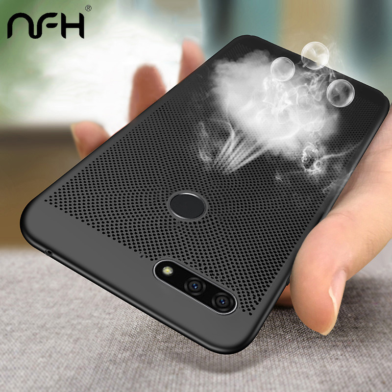 Hollow Heat Dissipation Hard PC for Huawei On <font><b>Honor</b></font> <font><b>7A</b></font> Pro <font><b>DUA</b></font>-<font><b>L22</b></font> Phone Case for Huawei Y6 prime Y5 2018 Matte Cover Coque image