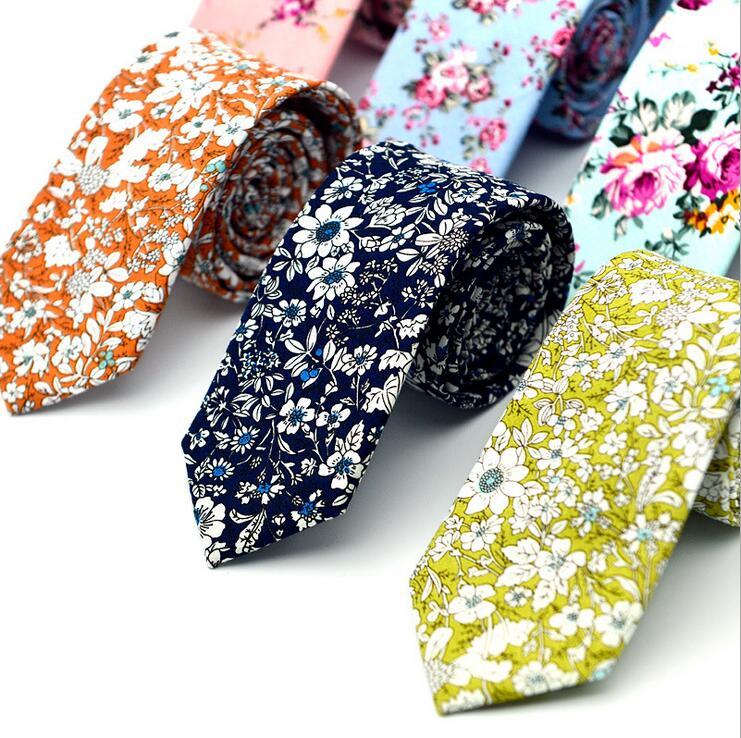 15 Stili New Casual Cravatte 100% Cotone Per Uomo Vintage Stampato - Accessori per vestiti - Fotografia 1