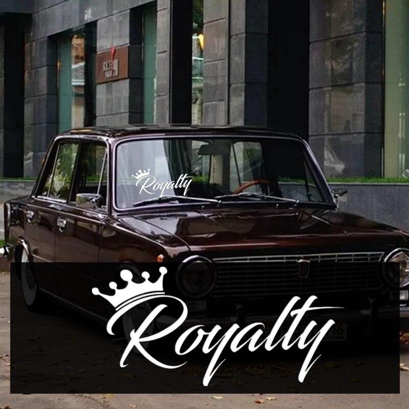 CK2841#20*9.5cm Royalty Funny Car Sticker Vinyl Decal Silver/black Car Auto Stickers For Car Bumper Window Car Decorations