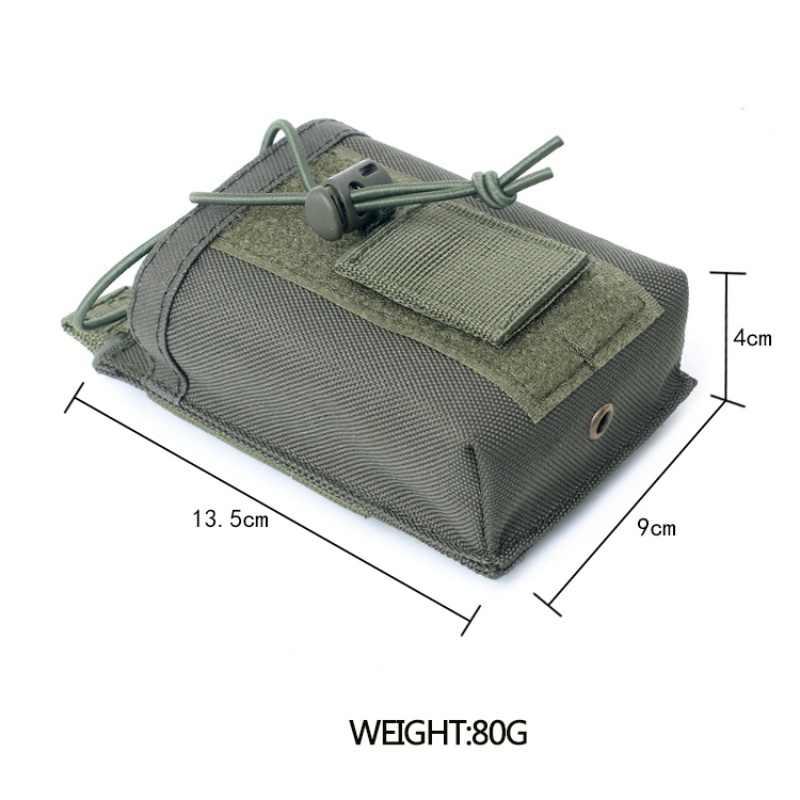 Bolsa de nailon 1000D con colgante para deportes tácticos, soporte para walkie-talkie Molle con Radio militar, bolsa de bolsillo para revistas Mag, nuevo
