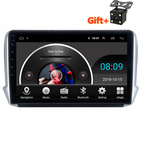 10.1 2.5D IPS Android 8.1 Car DVD Multimedia Player GPS for Peugeot 2008 208 2013 2014 2016 audio car radio stereo navigation