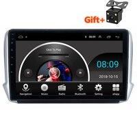 10,1 2.5D ips Android 8,1 автомобильный DVD мультимедийный плеер gps для peugeot 2008 208 2013 2014 2016 аудио автомобильный Радио Стерео навигация