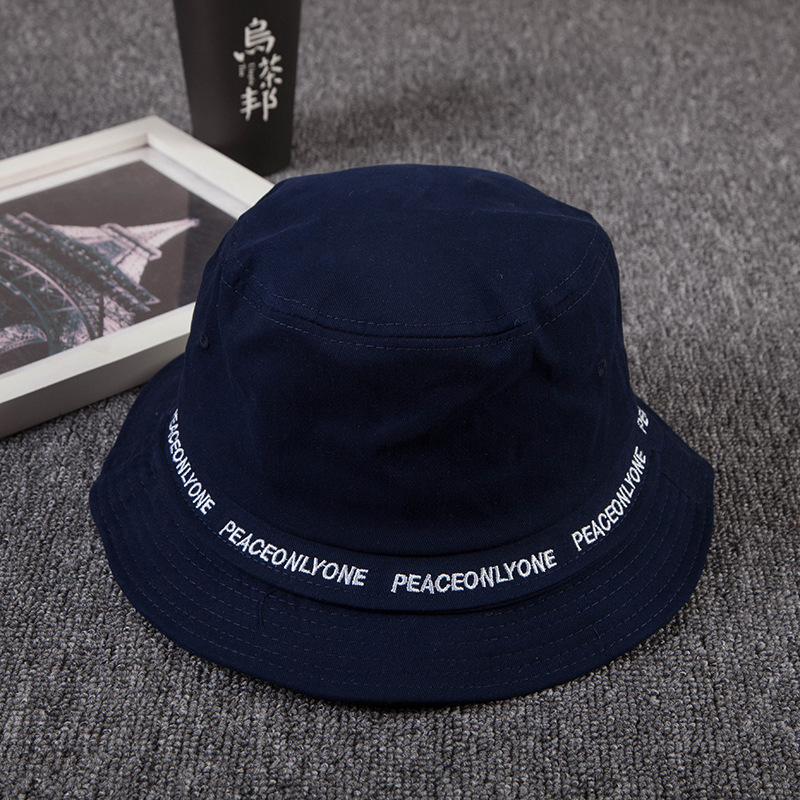 57c2011c25b 2018 New Japanese bucket hats men women letter embroidery 100% cotton bob  cap comfortable fisherman hat-in Bucket Hats from Apparel Accessories on ...