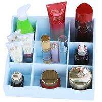 MIZHI 1 Wooden creative home 9 grid table dresser skin care products finishing box cosmetics storage box 26 * 23 * 11cm