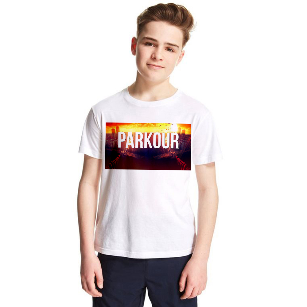 kids t shirt Parkour streetwear casual t-shirt for big boys girls tees Teens Hip Hop tops child Summer wear short sleeve tshirt hurley big boys staple t shirt