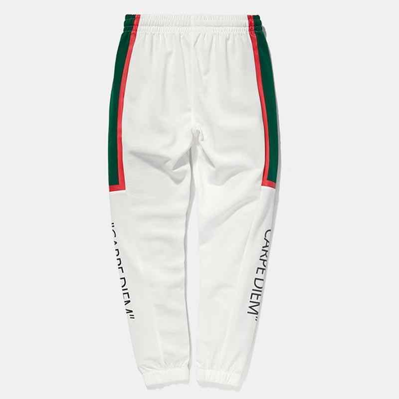 Осенне-зимние модные мужские спортивные штаны, повседневные спортивные штаны с принтом в стиле хип-хоп, полосатые карманы в стиле ретро