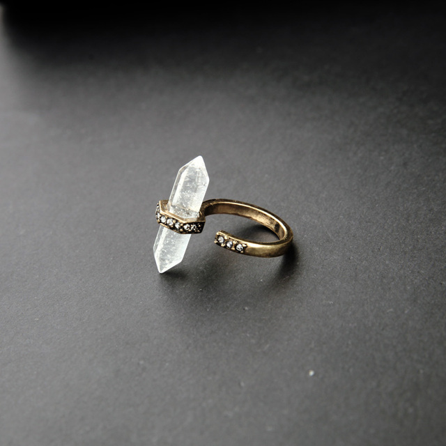 Online Store Unique Clearly Natural Stone Engagement Ring New Design