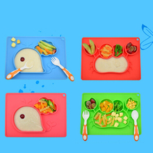1PC Children Food Container Placemat Baby Dishes Silicone Infant Plate Bowls Kids Tableware Food Holder Tray For Baby Feeding