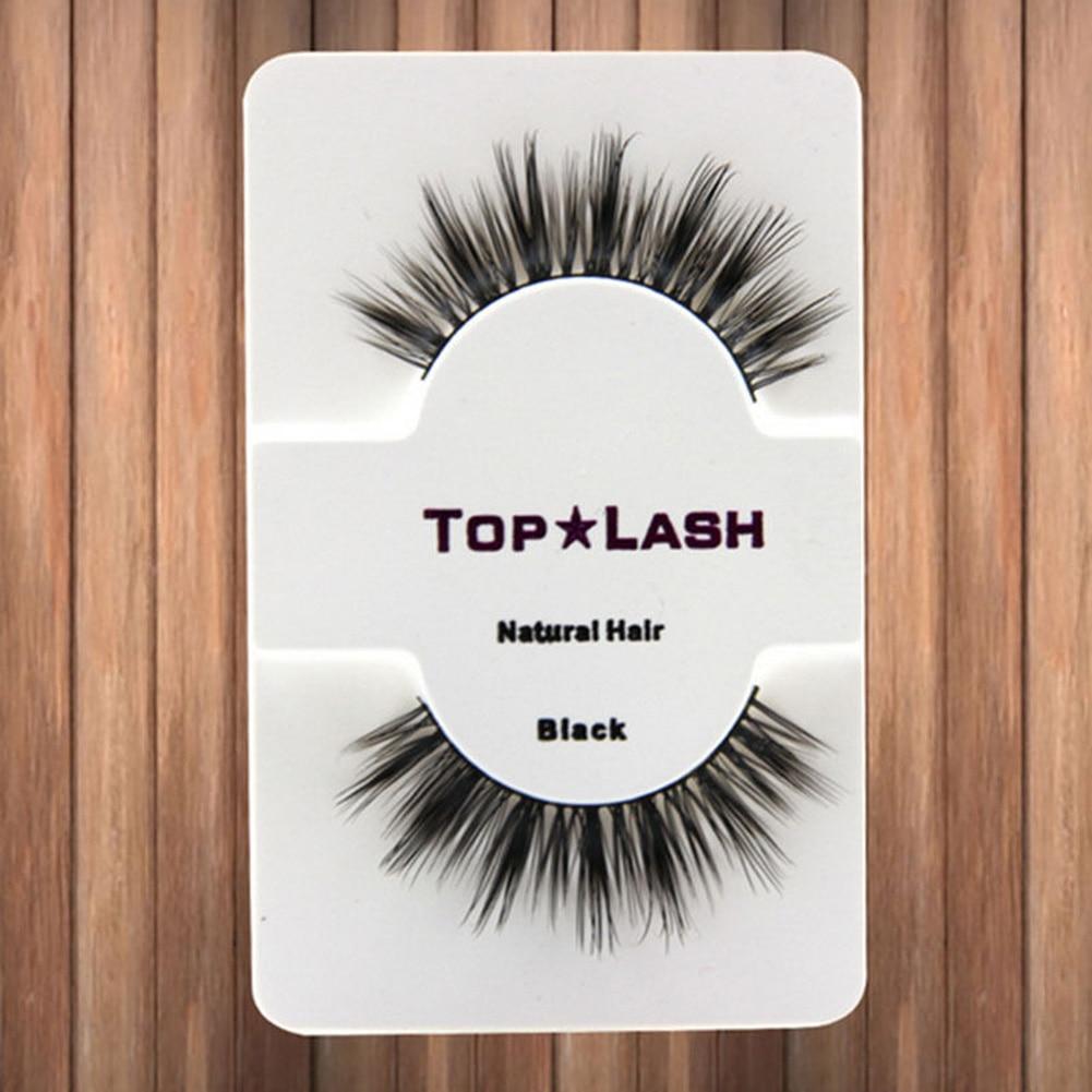 Black Natural Long Thick Eye Lashes False Eyelashes Top Lashes Extension Makeup
