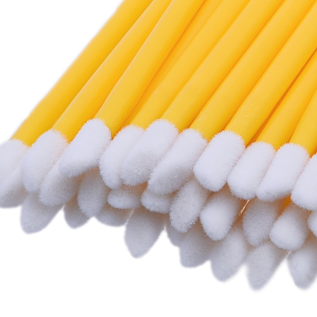50 unids/pack desechables maquillaje de labios cepillo de limpieza pluma lápiz labial varitas de rímel cepillo limpio pestañas cepillo cosmético maquillaje BTZ1
