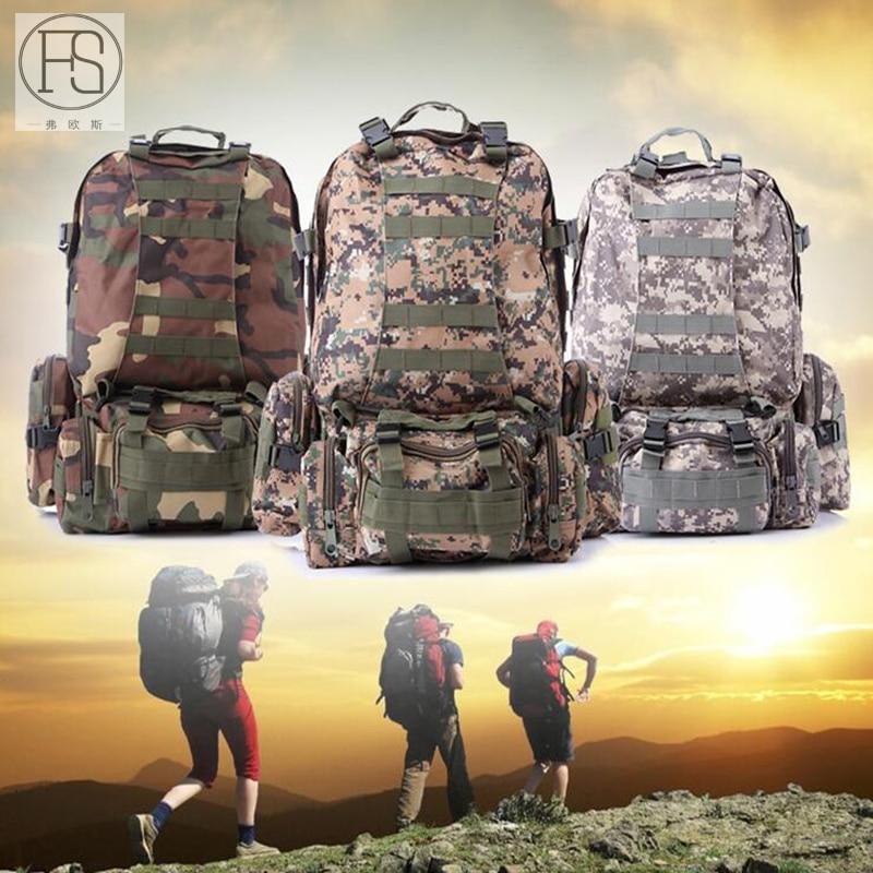 Haute capacité Camping en plein air randonnée sac à dos Camouflage imperméable à l'eau en plein air armée tactique militaire sac à dos Oxford tissu sacs