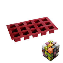 Silicone 15 Cavity  Magic Square Cake Molds For Mousse Baking Moulds Mold Creative Patisserie Dessert Kitchen Pastry Tools