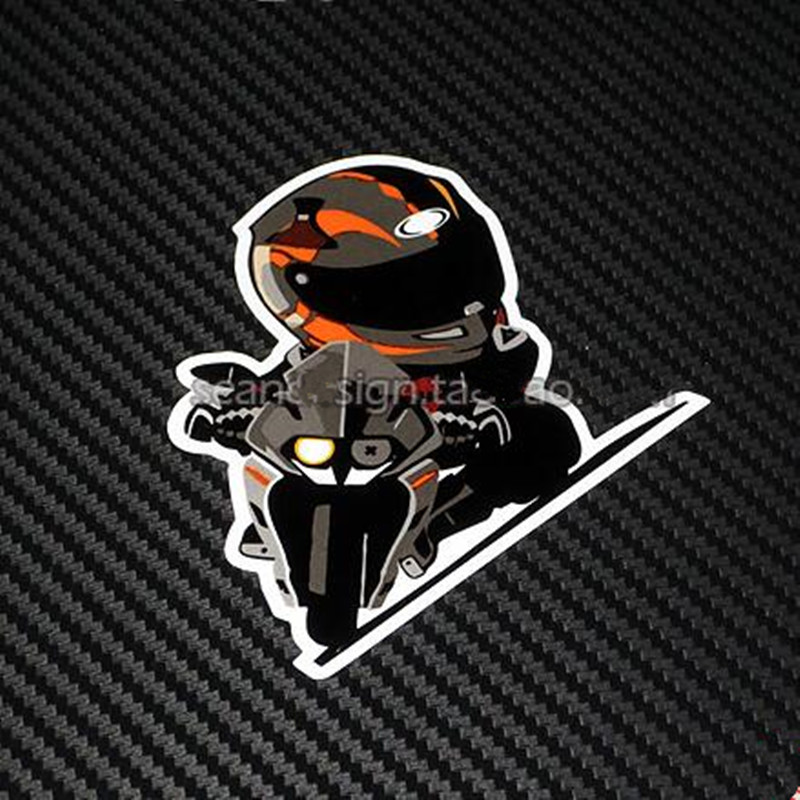 Motorcycle Decals Sticker For KTM RC390 RC 390 Q Knight Helmet & Motorbike Body Waterproof Stickers