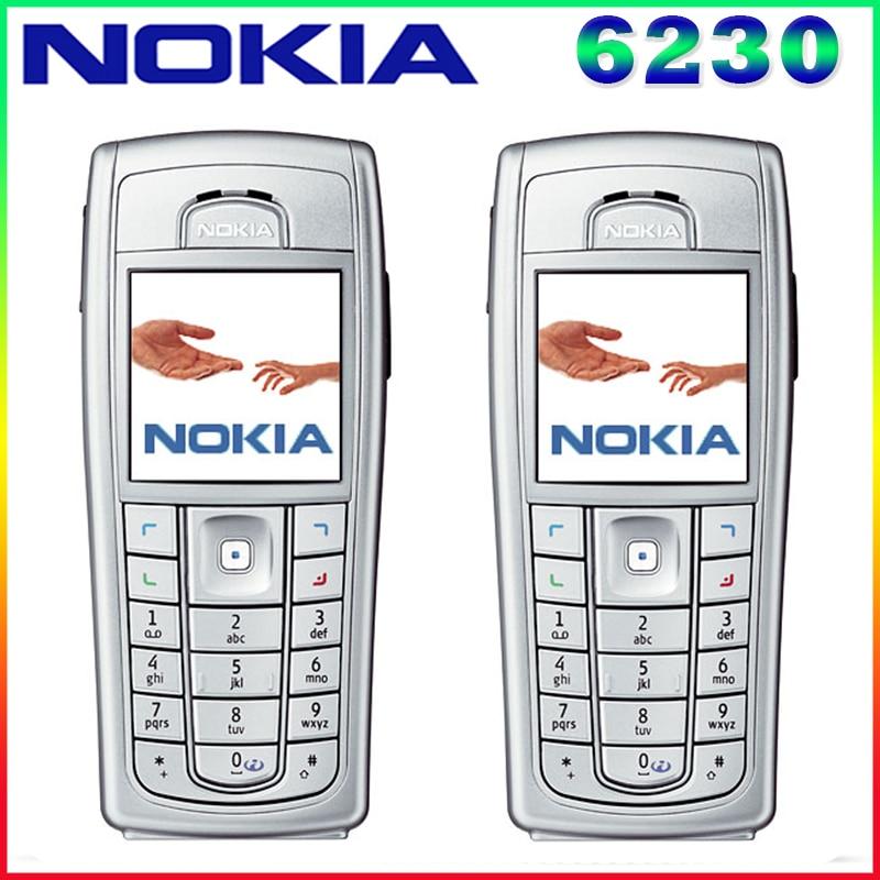 6230i 100 Original Unlocked Nokia 6230 6230i 850mAh Support Russian Keyboard Arabic Keyboard Cellphone Free Shipping