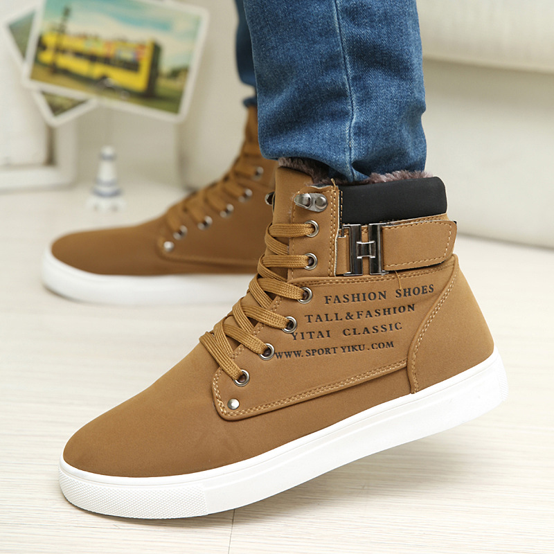 d3a4964eca Fengnong Men Shoes Fashion Warm Fur Winter Men Boots Autumn Leather Footwear  For Man Sneakers High Top Canvas Casual Shoes Men-in Men s Casual Shoes  from ...
