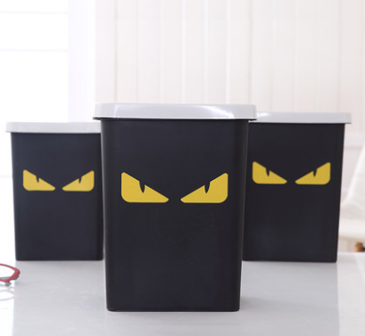 New Cute Cartoon Monster Durable Creative Waste Bins Fashion Practical Trash Can Home Office Bedroom Bathroom Garbage Bin C680
