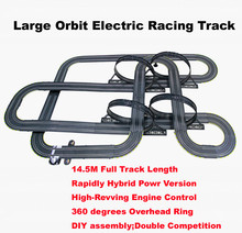 1:43 scale 1450CM electric Double Track Racing game rc car rail slot  High-Revving Engine Control  boys toys gift