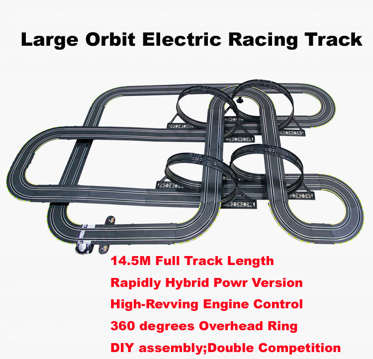 143 scale 1450cm electric double track racing game rc car rail slot high revving engine control boys toys gift