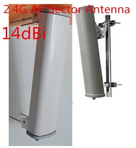 2.4G AP al aire libre antena de sector alto gain14dBi 120 grados wifi antena panel de señal al aire libre