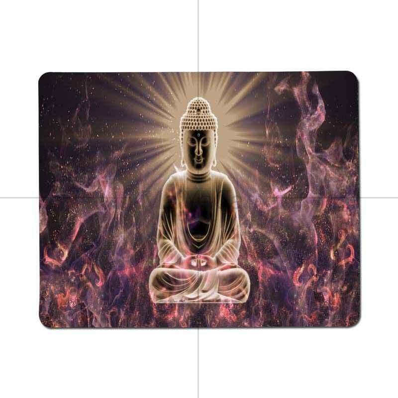 Maiyaca Kualitas Buddha Budha Kenyamanan Kecil Alas Mouse Gaming Mouse Pad Ukuran untuk 25X29cm 18X22 Cm Game mousepads
