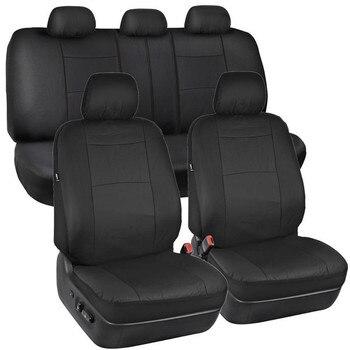 Cubierta de asiento de cuero PU negro, funda protectora Universal para asiento de vehículo, a prueba de polvo, accesorios interiores para todoterrenos y vehículos SUV