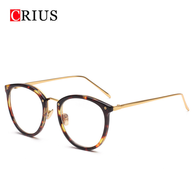 7a9b6191dd H CRIUS 2018 New Brand design Metal nose pads women s optical glasses frame  personality women glasses