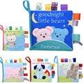 Мягкая 3D детская тканевая книга для раннего обучения новорожденных Тихая книга для когнитивных младенцев книга для чтения погремушек