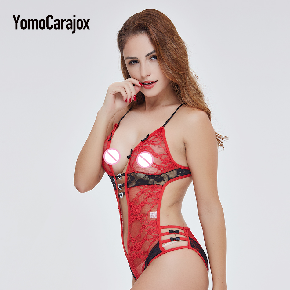Fashion Hot Sale Sex Product Sexy Costumes Women Underwear Lady Sexy Lingerie Transparent Conjoined Dress Suit Leotard Intimates 12