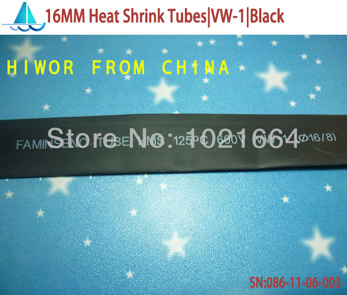 10meters/lot 16MM Heat Shrink Tubes Shrinkable Tubing Insulation Sleeving