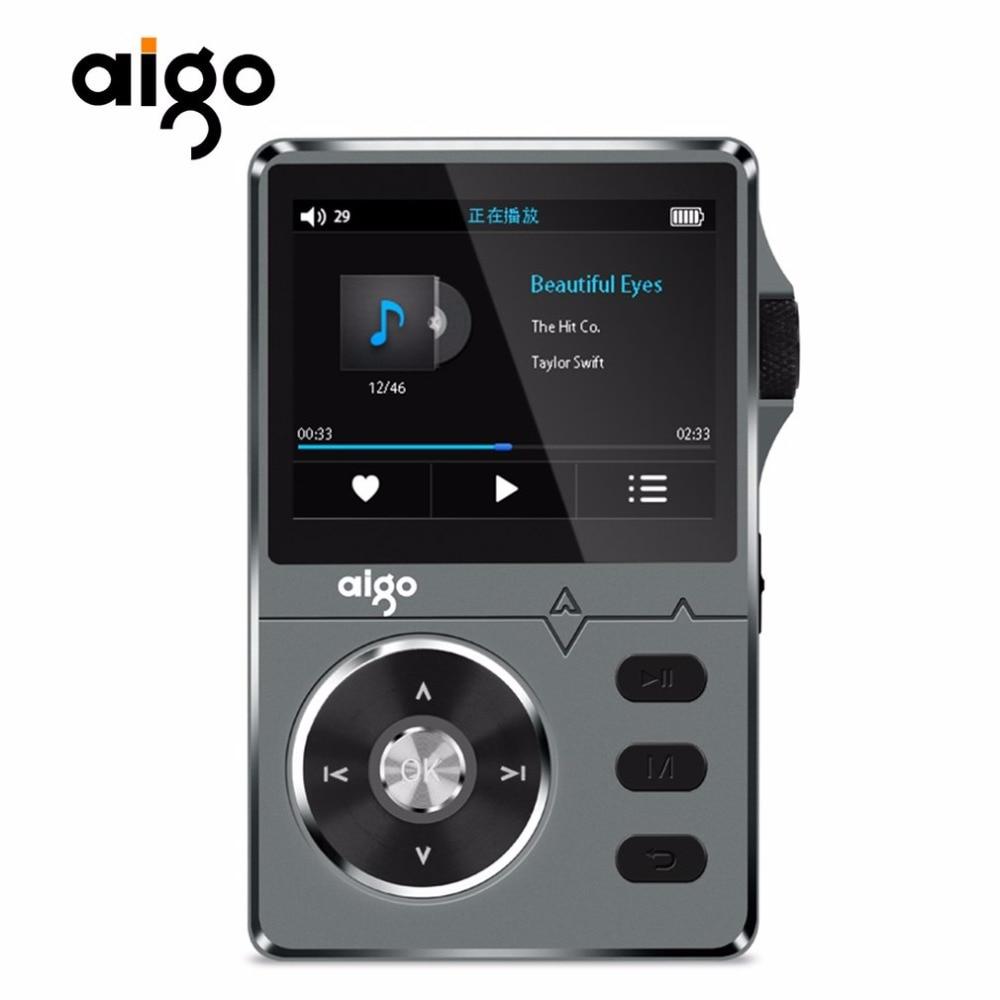 Aigo 108 Zinc Alloy HiFi High Quality Sound Lossless Music 2.2 Inches 8GB MP3 Player Support APE/FLAC/ WMA/ WAV/OGG/ACC original onn x5 8gb full metal professional lossless hifi music player mp3 player tft screen support ape flac wav wma mp3