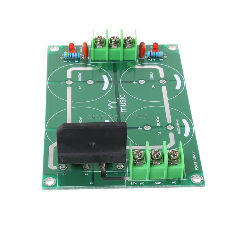 Dual Power Rectifier Filter Power Supply Module Empty Circuit Board For TDA8920 LM3886 TDA7293 Amplifier Dropship