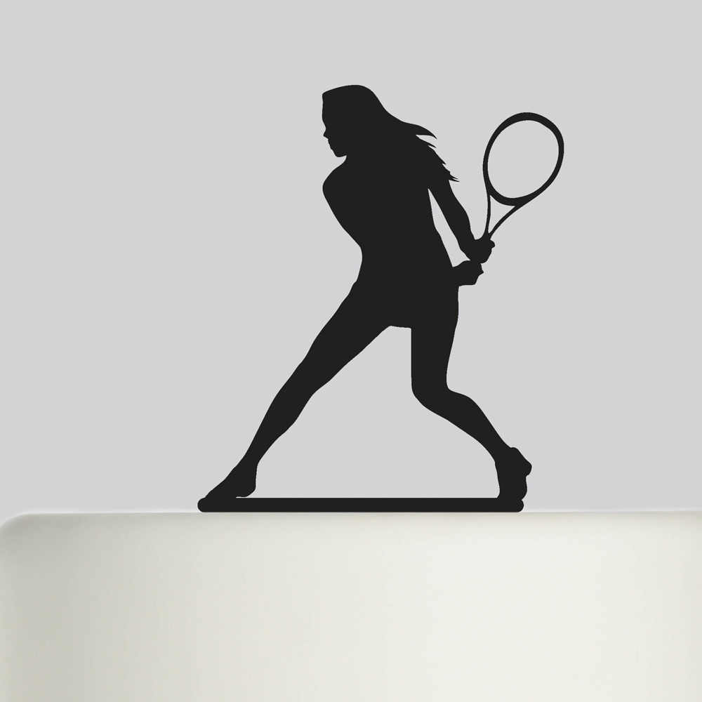 Tennis player personalized cake topper with 4 cupcake picks,Tennis cake topper,Tennis party,personalised cake topper