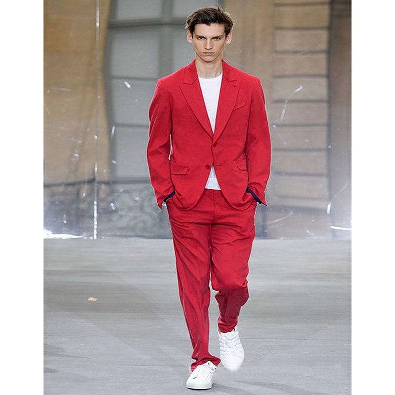 2017 fashion costume homme bespoke man wears red peak. Black Bedroom Furniture Sets. Home Design Ideas