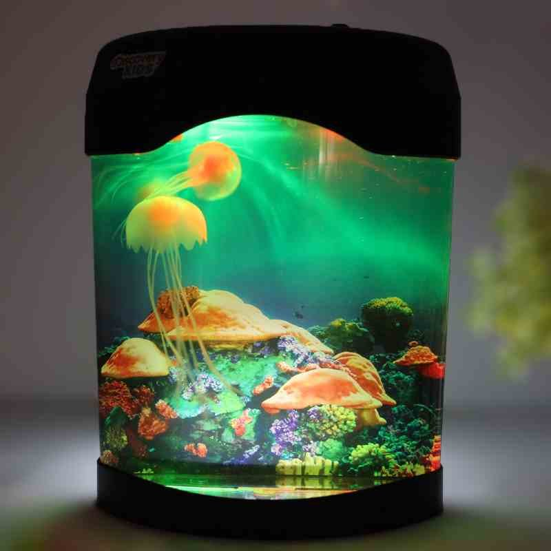 Large Electronic Simulation Pet Toys Heal Jellyfish Aquarium Fish Tanks Small Night Light Creative Gifts In Novelty Lighting From Lights On