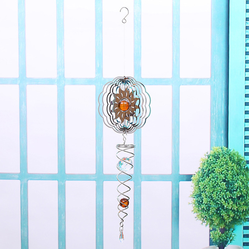 3D Metal Rotate Wind Chime Whirl Moving Rotating Hanging Home Decor Room Window Decoration LBShipping3D Metal Rotate Wind Chime Whirl Moving Rotating Hanging Home Decor Room Window Decoration LBShipping